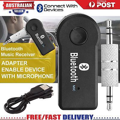 Wireless Bluetooth 3.5mm AUX Audio Stereo Music Home Car Receiver Adapter AUS