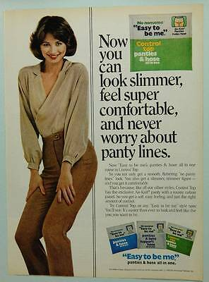 1980 No Nonsense Pantyhose  Vintage Magazine Ad Page - Easy to Be Me - Cute Girl