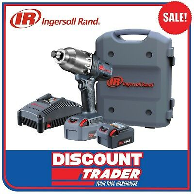 "Ingersoll Rand 3/4"" Cordless Impact Wrench 20V 5.0Ah Lithium-Ion W7170EU-K22-AN"