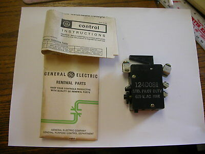 Ge General Electric Overload Relay Cr124D081  New