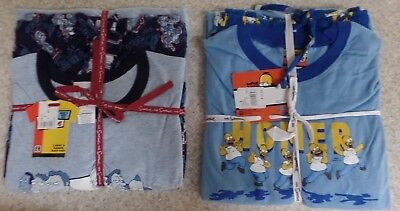 The Simpsons Men's 100% Cotton Sleep Pants Shirt Set Size L or XL New With Tags