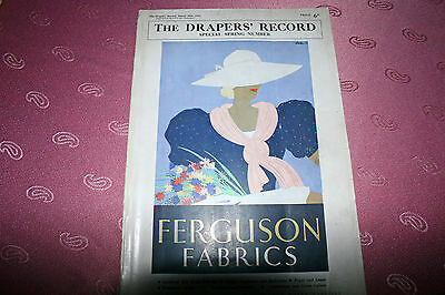 The Drapers Record Special Spring Number 1934 England Mode Design Reklame