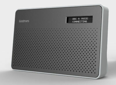 Goodmans Canvas Portable DAB Digital & FM Radio - Silver Steel finish CANVASSTE