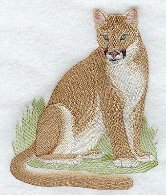 Embroidered Long-Sleeved T-Shirt - Cougar Mountain Lion M2125 Sizes S - XXL