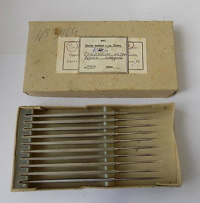 Vintage 10-piece Surgical Scalpel, USSR 1980's,Condition new, Maker #30317
