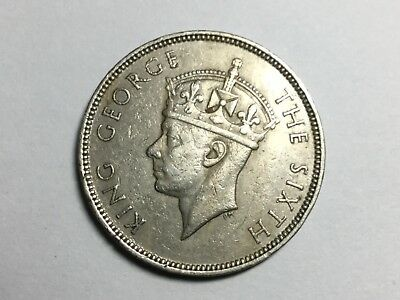 MAURITIUS 1951 1 Rupee coin very nice condition