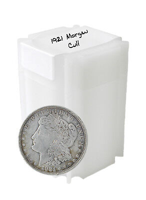 1921 Silver Morgan Dollar Cull Lot of 10 Solid Date S$1 Coins