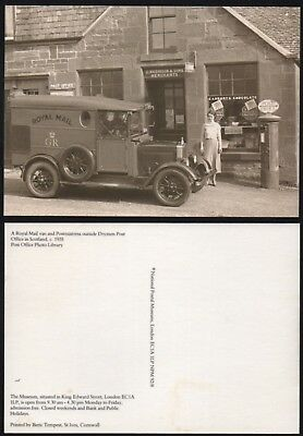 DRYMEN Post Office 1935 (Glasgow). Royal Mail van. 1992 reproduction postcard