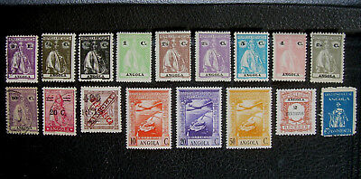 (17) Old ANGOLA Postage Stamps Unused MLH Air Mail Portuguese Colony
