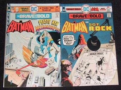 Brave and the Bold #123 & 124 Bronze Age High Grade NM 9.2 CA938