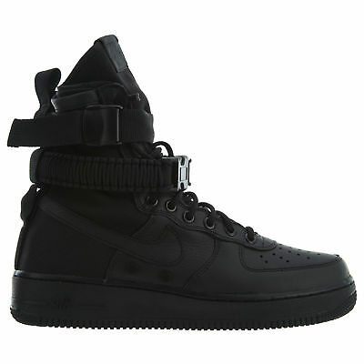 another chance c15b7 70de0 Nike SF Air Force 1 Mens 864024-003 Triple Black Leather Textile Shoes Size  8.5