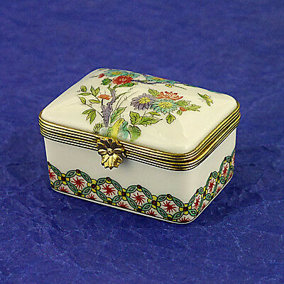 Beautiful Porcelaine De Paris Limoges Hand Painted Oblong Trinket/Pill Box