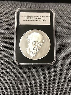 Vintage 1972 Sterling Silver HEAD OF SAINT c. 1484 Franklin Mint Louvre Series