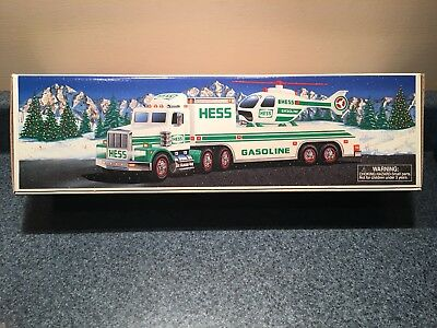 New Never Used 1995 Hess Toy Truck And Helicopter Nib