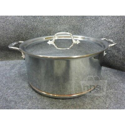 All-Clad 8qt Stock Pot with Lid Copper Core Stainless Steel 6508