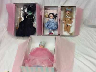 Lot of 4 Madame Alexander Wizard of Oz Dolls