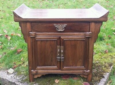 A Wonderful Antique Chinese Alter cabinet with everted ends.