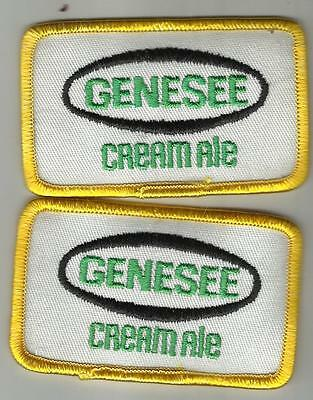 Pair Of Genesee Cream Ale Small Uniform Patches- Genny Of  Rochester, NY