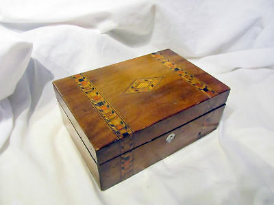 A Victorian Antique Inlaid Wooden Box
