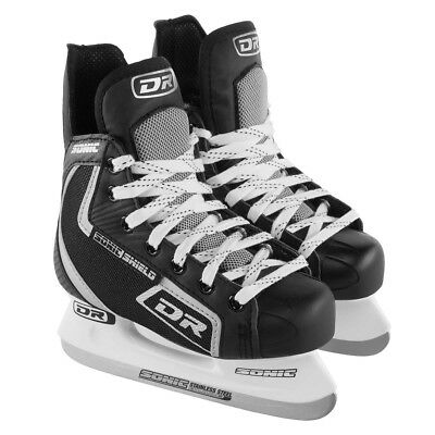 DR Sports Sonic Shield Boys Ice Hockey Skates With Laces Stainless Steel Blades