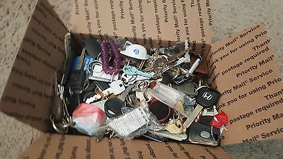 Lot of Misc Keys & Keychains 10+LBS HOUSE CARS etc  Some old Arts Crafts