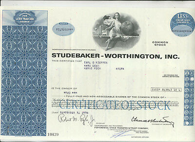 Four Different Automobile Makers Stock Certificates