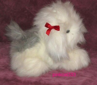 "Lovable Huggable Friends Plush Old English Sheepdog~13""~Long Hair~Dog Puppy~Nwt"