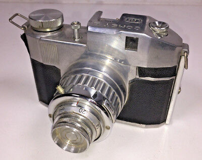 A vintage, Italian-made Bencini Comet S rollfilm box camera from 1950s