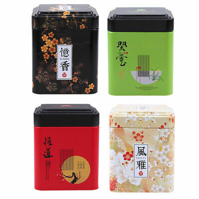Chinese Style Metal Tea Tin Jar Candy Sealed Storage Can Sugar Coffee Container