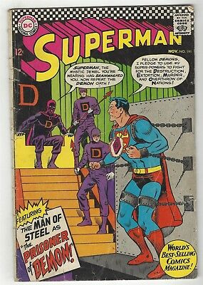 Superman 191! Gd 2.0! Great Silver Age Dc Comic Book!