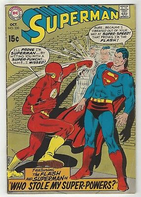 Superman 220! Vg 4.0! Classic Cover! Great Silver Age Dc Comic Book!