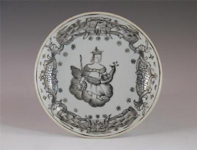 "Fine Antique 18Th C Chinese Porcelain Mythological Subject ""juno"" Saucer"