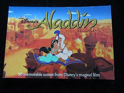 Walt Disney's Aladdin Postcard Book - Running Press, 30 Scenes - Like New