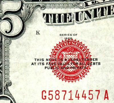 $5 1928D United States Note  ** MORE CURRENCY FOR SALE **