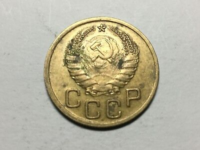 RUSSIA 1940 3 Kopeck coin very nice condition