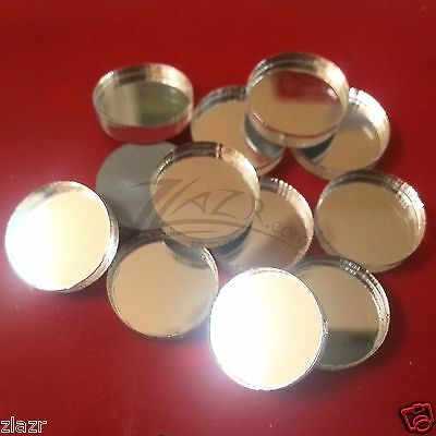 "(20) 5/8"" x 1/8"" Mirrored Acrylic Circle Disc Round Craft Plastic Plexiglass"