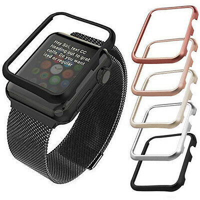 Apple Watch iWatch Series 1 2 3 Cover Case Screen Protector Glass 38mm & 42mm