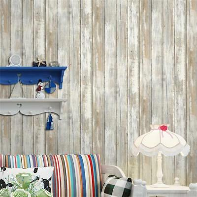 Natural Wood Timber Plank Panel Effect 3D Textured Wall Paper Sample Mural E