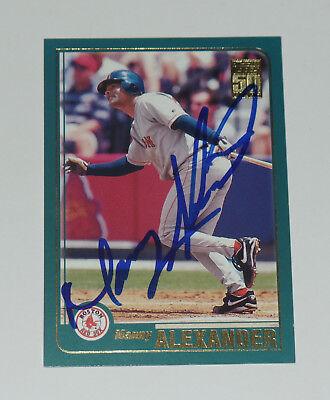 Manny Alexander Signed Auto'd 2001 Topps Card #69 Boston Red Sox Orioles Cubs