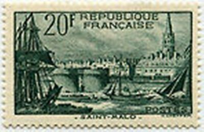 """FRANCE STAMP TIMBRE N° 394 """" PORT DE SAINT MALO 20F """" NEUF xx LUXE S827"""
