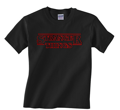 New YOUTH black Stranger Things t-shirt Netflx kids tee all sizes