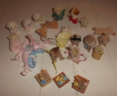 Sylvanian Family Bundle Of Baby Figures And Accessories