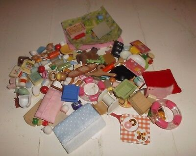 Sylvanian Family Of Small Accessories Food Baby Bathroom Etc