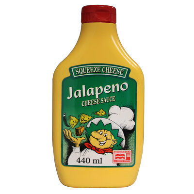 (10,20 Eur/l) Squeeze Cheese Cheese Sauce 440ml Flasche Cheddar Käse Dip