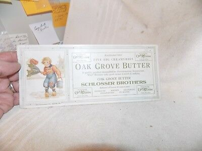 Advertising  Ink Blotter  Oak Grove Butter  Schlosser Bros USED