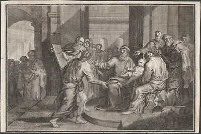 Presentation of Jesus at the Temple - original Engraving 18th Century Old Master
