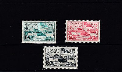 a102 - MOROCCO - SG54-56 MNH 1958 BRUSSELS INTERNATIONAL EXHIBITION