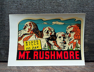 Vintage Travel Decal South Dakota Mt Rushmore Trailer Hot Rod Rat Auto Truck Car