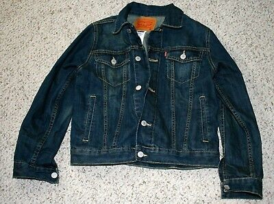 Levi Strauss 7747-A15 100% Cotton Blue Denim Child's Size M (10-12yrs) Jacket