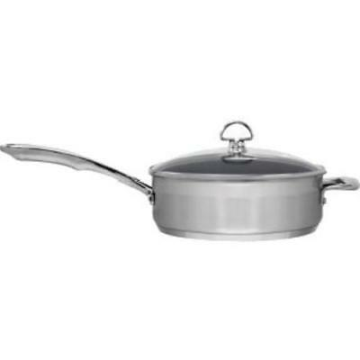 Chantal Induction 21 Steel Ceramic Coated Saute Skillet with Lid [3 Qt.]